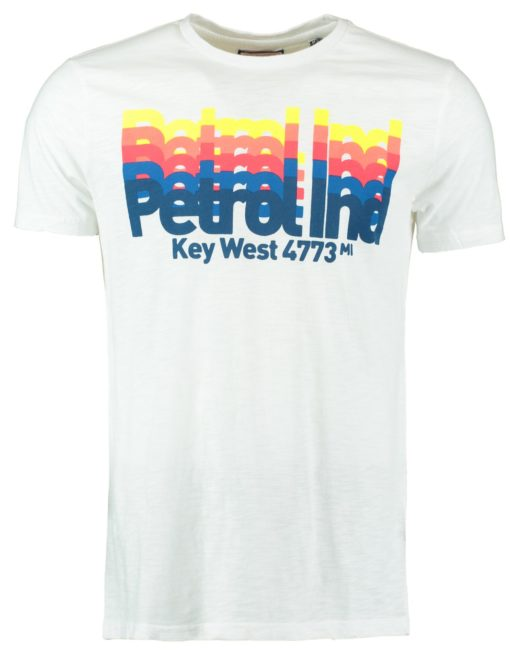 Petrol t-shirt wit