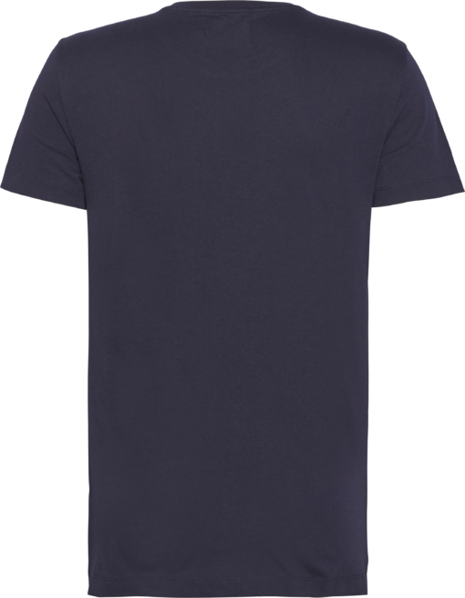 Calvin Klein Slim T-shirt met Zak en Logo Night Sky/Chambray