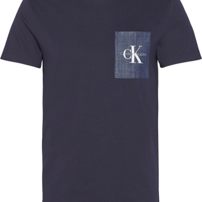 Calvin Klein Slim T-shirt met Zak en Logo Night Sky/Chambray