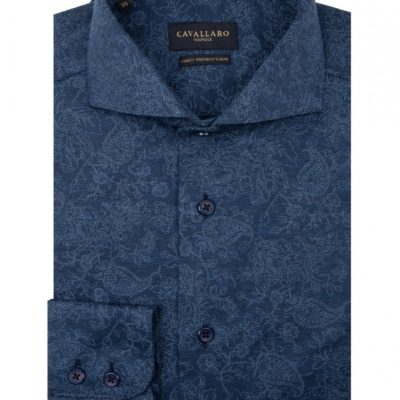 CAVALLARO NAPOLI Radio Shirt Dark Blue