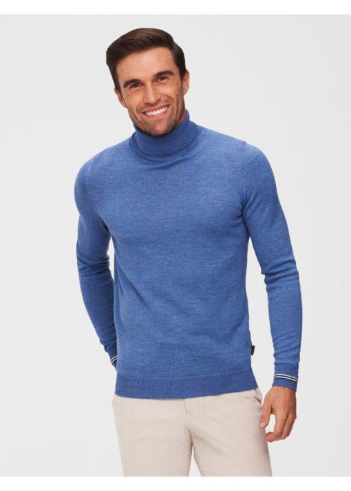 CAVALLARO NAPOLI Romagno Roll Neck Pullover Lichtblauw
