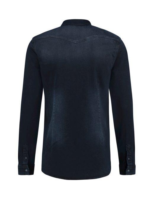 Purewhite Denim Shirt Navy
