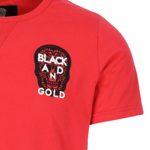 BLACK & GOLD Minilogos Tee Red