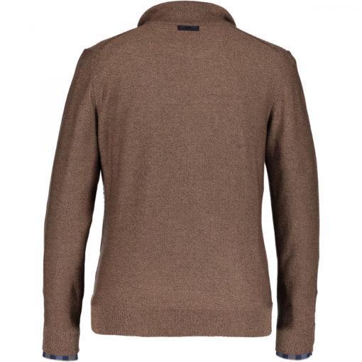 State of Art Fijngebreide trui van katoen kahki/kit