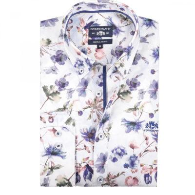 State of Art Regular fit overhemd met bloemen