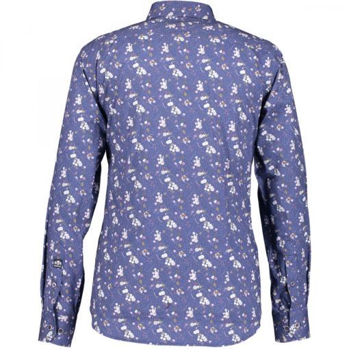 State of Art Overhemd met borstzak lila/marine