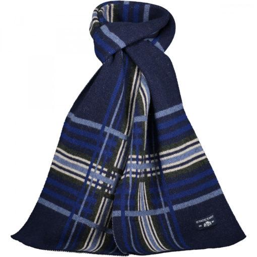 State of Art Sjaal met ruitmotief donkerblauw/lichtblauw
