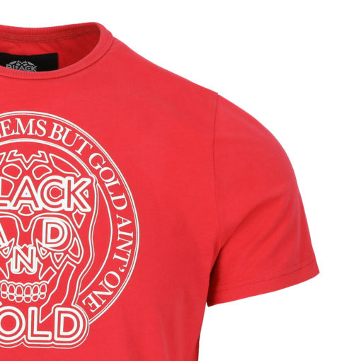 BLACK & GOLD Rotondos Tee Red
