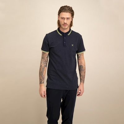 KULTIVATE POLO LIME CROSS dark navy