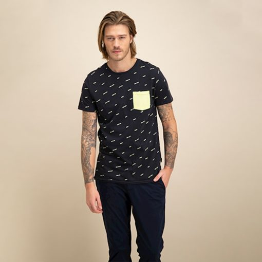 KULTIVATE TEE CURSIVE dark navy