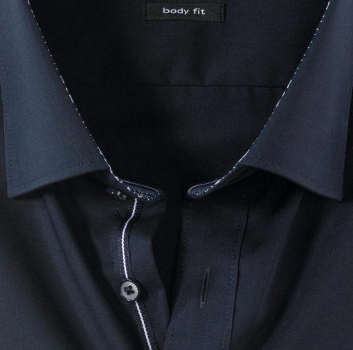 OLYMP Level Five, body fit, Button-Under, Kobaltblauw