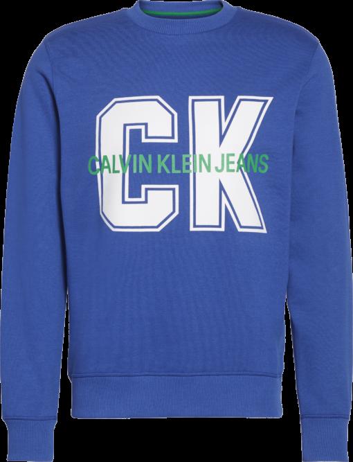 Calvin Klein Sweatshirt met Varsity-logo mazarine blue