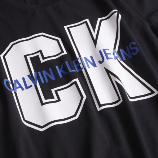 Calvin Klein Slim Varsity T-shirt CK BLACK / WHITE CK / BLUE