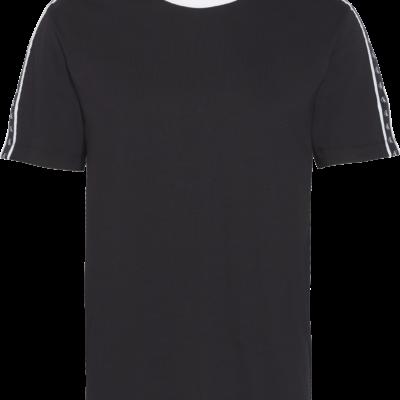 Calvin Klein T-shirt met logotape BLACK BEAUTY / BLACK/WHITE TAPE
