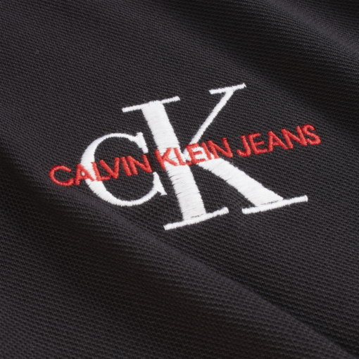 Calvin Klein Slim polo met lange mouwen BLACK BEAUTY