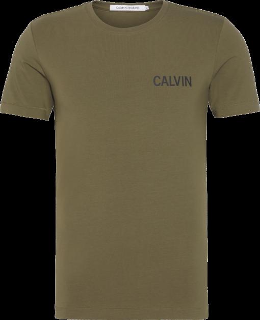 Calvin Klein Slim T-shirt van stretchkatoen Grape Leaf
