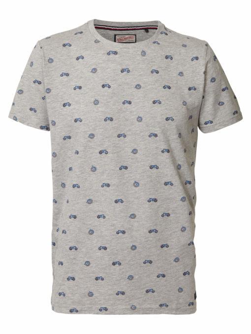 Petrol Industries T-shirt Motor Light Grey Melee