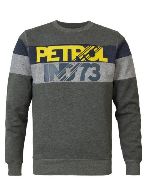 Petrol Industries Sweater Strepen Dark Army