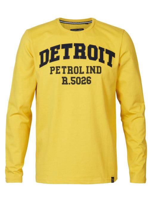 Petrol Industries Longsleeve Detroit Gekleurd Sulphur