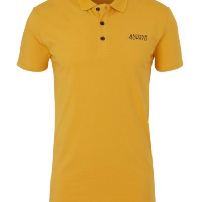 Antony Morato regular fit polo met logo okergeel