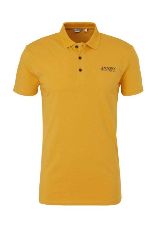 Antony Morato regular fit polo met logo okergeel