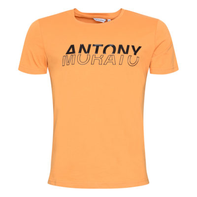 ANTONY MORATO REGULAR-FIT T-SHIRT IN 100% COTTON WITH SHINY EMBOSSED PRINT YELLOW