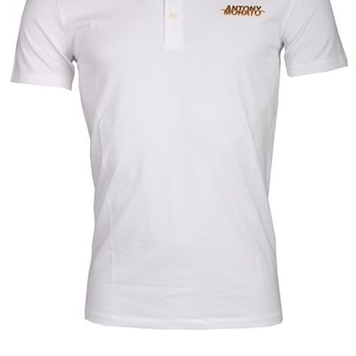Antony Morato regular fit polo met logo wit