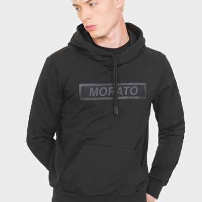 Antony Morato REGULAR-FIT SWEATSHIRT IN STRETCH COTTON WITH FRONT PRINT DETAIL Black