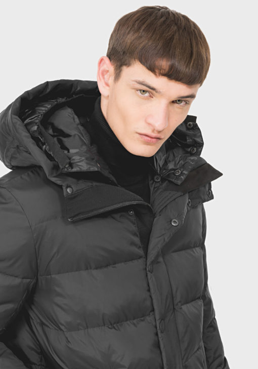 ANTONY MORATO JACKET WITH A DOUBLE HOOD AND DRAWSTRING BOTTOM BLACK