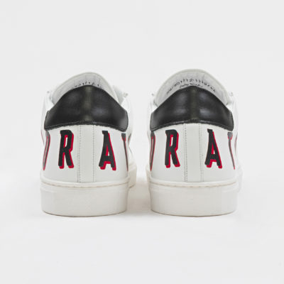 """SCREEN"" SNEAKER IN NAPPA LEATHER WITH SCREEN-PRINT LOGO WIT"