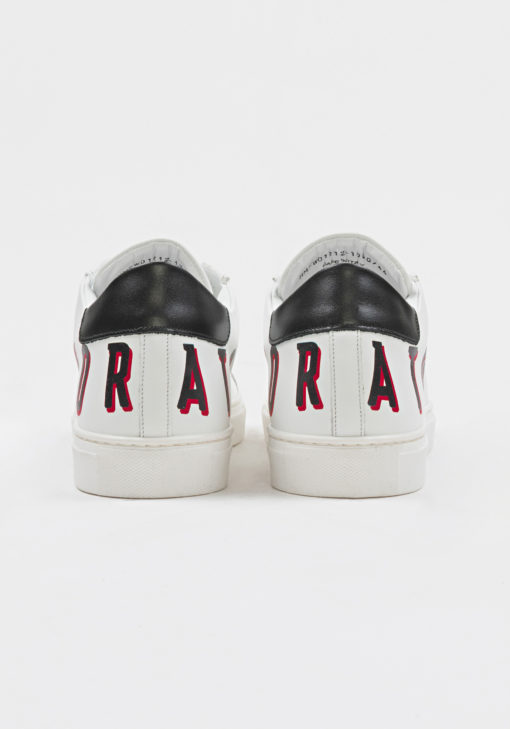 """""""SCREEN"""" SNEAKER IN NAPPA LEATHER WITH SCREEN-PRINT LOGO WIT"""