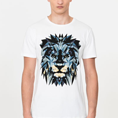 ANTONY MORATO REGULAR-FIT T-SHIRT IN 100% COTTON WITH FLOCK-EFFECT RELIEF DETAILING WHITE