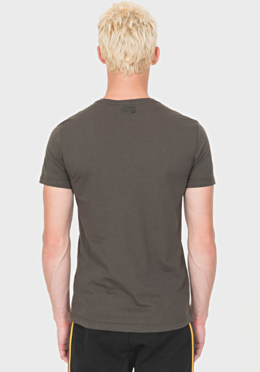 ANTONY MORATO REGULAR-FIT T-SHIRT IN 100% COTTON WITH RUBBER-COATED PRINT DESIGN GREEN