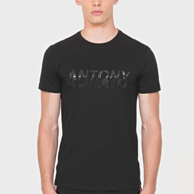 ANTONY MORATO REGULAR-FIT T-SHIRT IN 100% COTTON WITH SHINY EMBOSSED PRINT BLACK