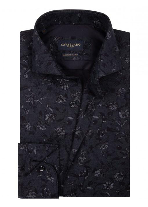 Cavallaro Napoli Iloro Shirt Zwart
