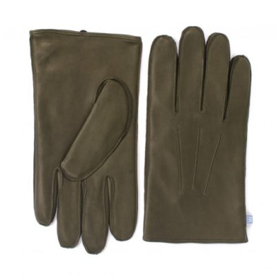 Tresanti Legergroene handschoen van schapenleer