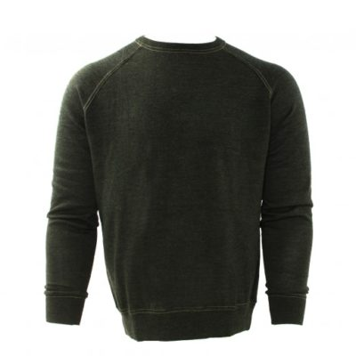 Tresanti Merino wol pullover, groen, ronde hals