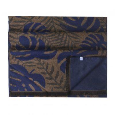 Viscose sjaal, tweezijdig met grote bladeren