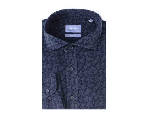 Corduroy overhemd bloemen print - Tailored Fit