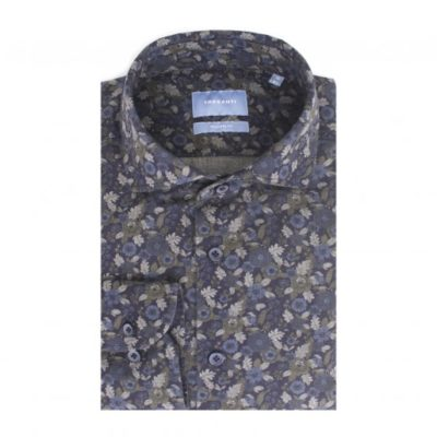 Tresanti Flannel overhemd bloemen print Tailored Fit
