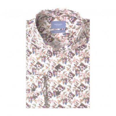 TRESANTI Overhemd stretch wit bloemenprint Tailored Fit