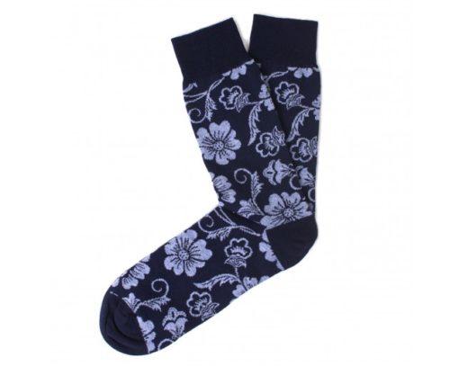 TRESANTI Katoenen sokken navy bloem