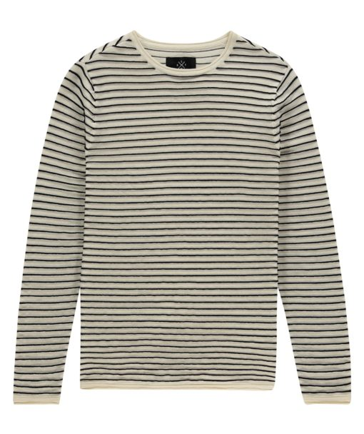 Kultivate Knit STRUCTURE STRIPE Ecru