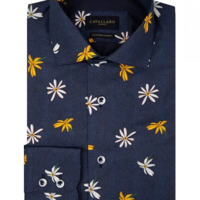 Cavallaro Napoli Fiorello shirt Donker Navy