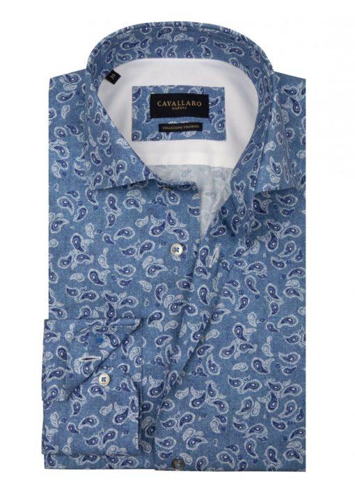 Cavallaro Napoli Benito shirt Blauw