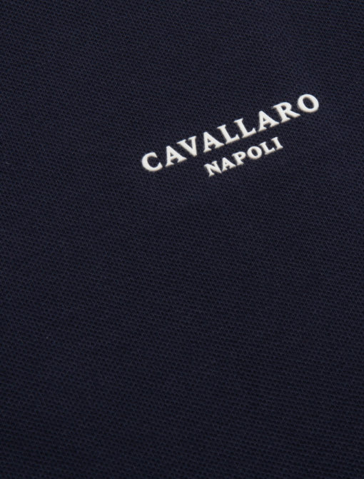 Cavallaro Napoli Basic Polo Donker Blauw