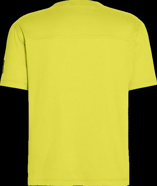 Calvin Klein Monogram T-shirt met embleem Solar Yellow