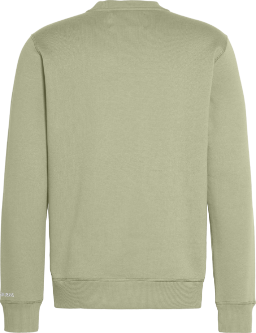 Calvin Klein Sweatshirt van fleece-katoenmix Earth Sage/Black