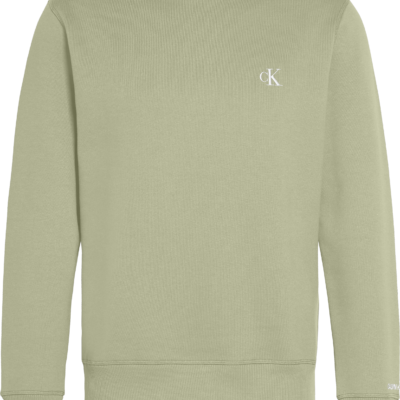 Calvin Klein Sweatshirt van fleece-katoenmix Earth Sage/Black