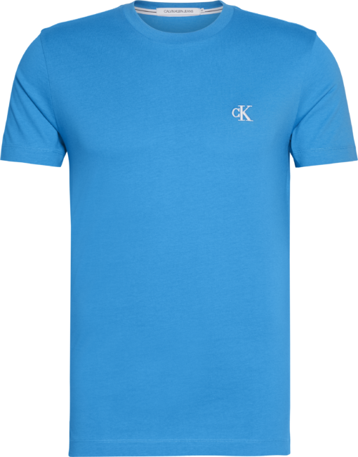 Calvin Klein Slim T-shirt van biologisch katoen COASTAL BLUE